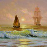 Ships on the ocean-GAM178